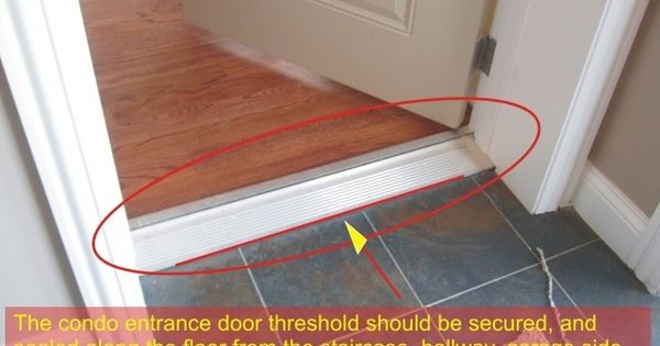 Exterior Door Threshold Condo Entrance Door Frame Door Jamb Must Be Sealed Along The Wall