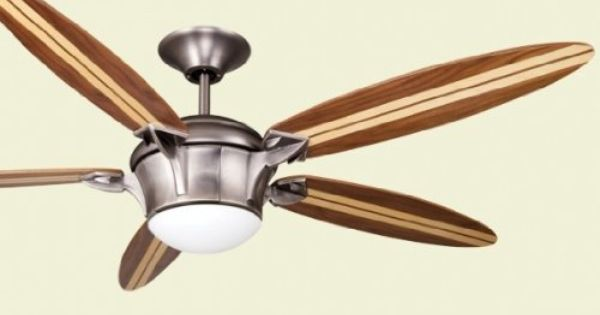"Ellington E-SBF58AN5LKRCR2, Surfboard Antique Nickel 58"" Ceiling Fan ..."