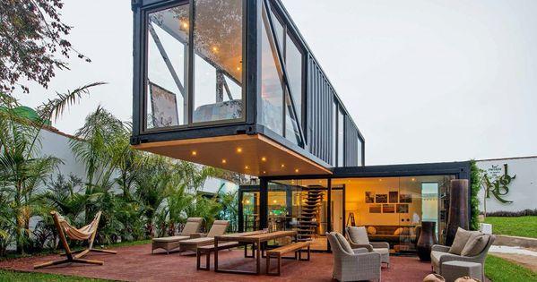 Icono interiorismo casas construidas con contenedores for Diseno de oficinas con contenedores