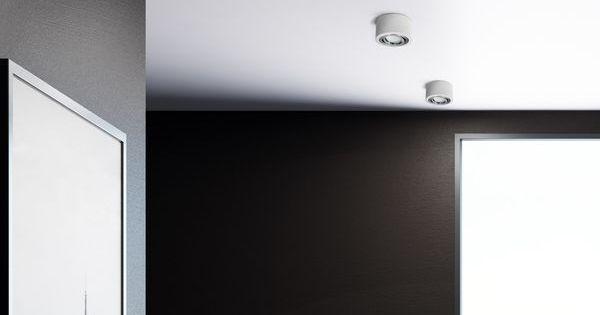 Flacher Decken Aufbauspot Matt Weiss Schwenkbar Mit Led Modul 5w Neutralweiss 230v Aufbauspots Beleuchtung Decke Deckenstrahler Weiss