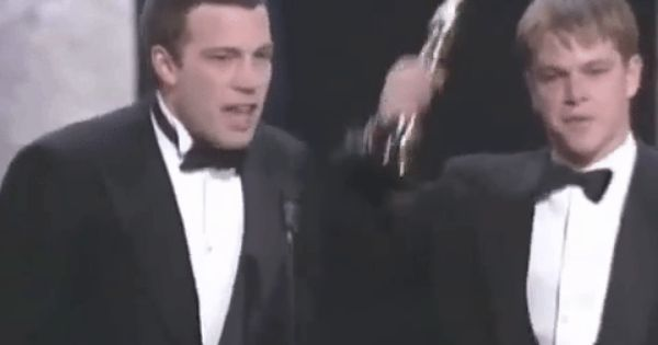 The Oscars Gif Find Share On Giphy Matt Damon Ben Affleck Matt Damon Ben Affleck