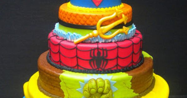 Awesome superhero groom's cake idea
