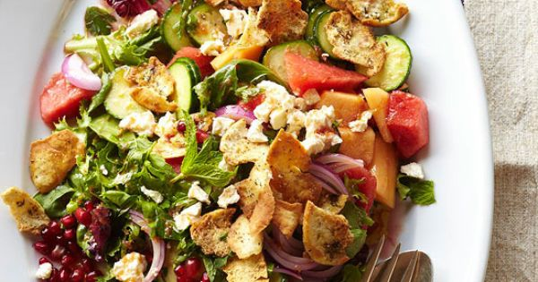 From Better Homes and Gardens - Melon and Herb Bread Salad