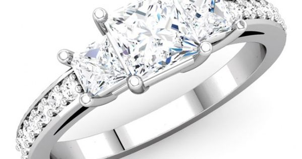 three princess cut engagement ring our
