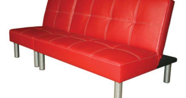 Banquette Clic Clac Studio Coloris Rouge Banquette Mobilier De Salon Conforama
