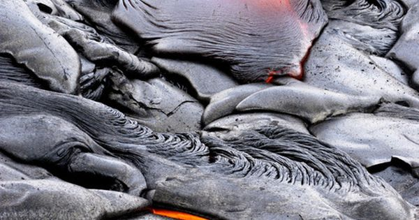 Active lava flow, Hawaii Volcanoes National Park, The Big Island, Hawaii