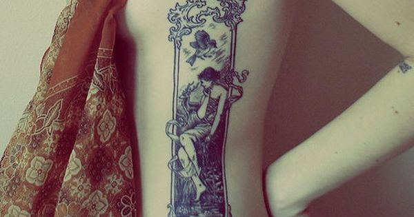 Love this!! artnouveau tattoo