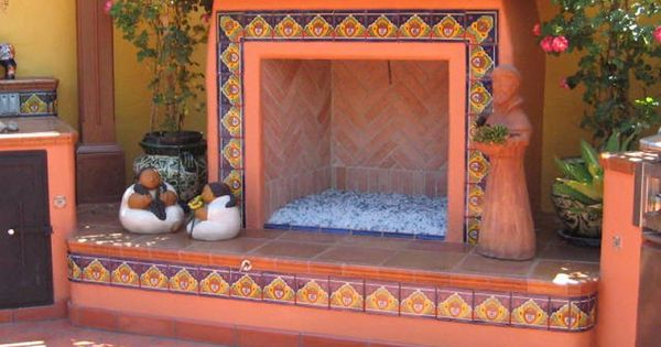 Decorating With Mexican Talavera Tile Copper Fireplaces And Backyards