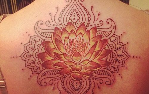 So beautiful! Beautiful lotus flower mandala Back tattoo