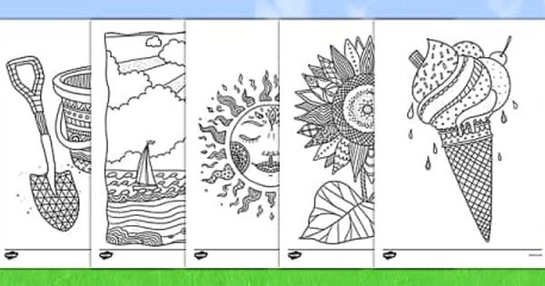 New Bloom Summer Coloring Pages Mindfulness Colouring Mindfulness Colouring Sheets