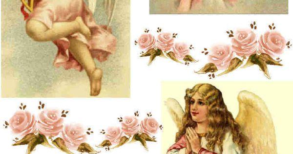 Hojas de collage de imagen occidental de la vendimia