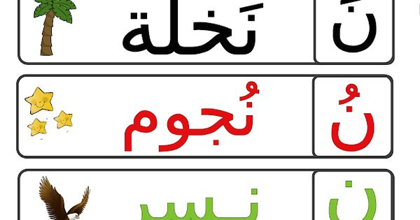 نشاط حرف النون للاطفال Arabic Alphabet For Kids Arabic Alphabet Alphabet For Kids