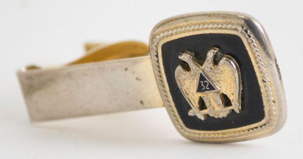 Vintage Tie Clip Scottish Rite 32 degree Mason by CuffsandClips