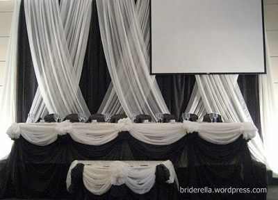 Diy Headtable Decoration Tutorial Backdrops Screens And