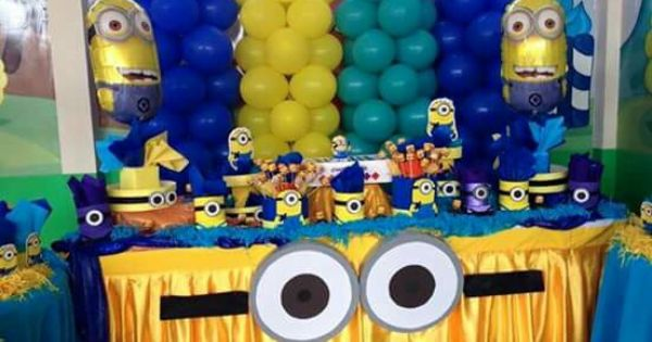 decora o minions decorar para festejar pinterest. Black Bedroom Furniture Sets. Home Design Ideas