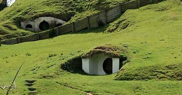 3) Underground homes - New Zealand hobbit houses...