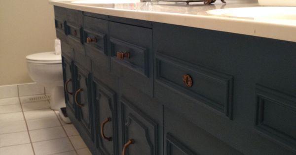 Bathroom Vanity Painted Aubusson Blue Annie Sloan S Chalk