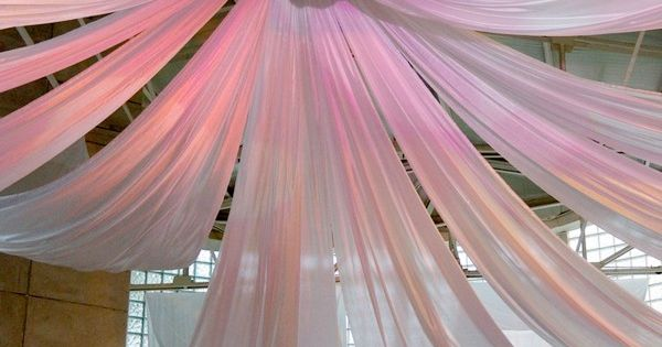 Hanging fabric from ceiling ideas decorating with sheer for Sheer galaxy fabric