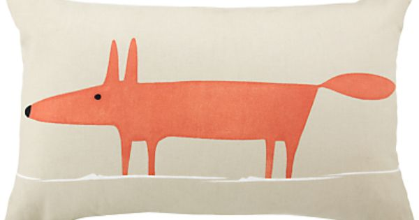 Buy Scion Mr Fox Cushion, Orange / Beige online at JohnLewis.com -