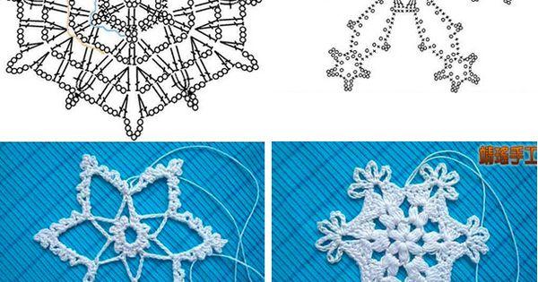 decorar con ganchillo copos de nieve h keln. Black Bedroom Furniture Sets. Home Design Ideas