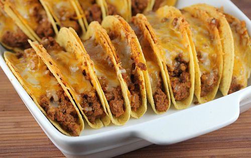 Baked Tacos Recipe - such a great idea, and a hit with