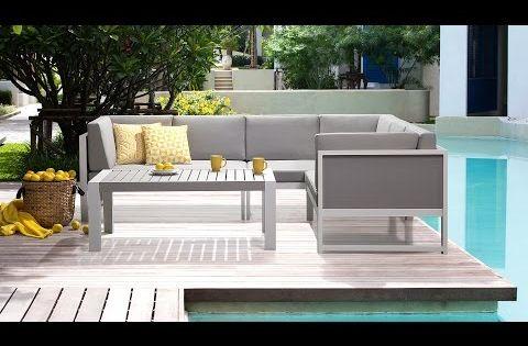 Gartenmöbel Set Weiss Grau   Gartenlounge   Gartensofa + Gartentisch Aus  Aluminium   VINCI | Garten Loungemöbel | Pinterest
