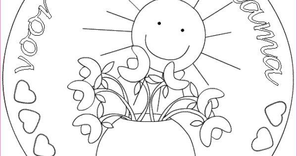 moederdag mandala kleurplaat flevokids mandala