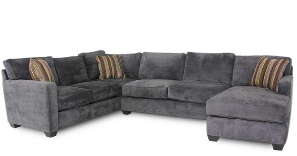 Jonathan Louis Bradford Albroke Plum Sectional Sofa