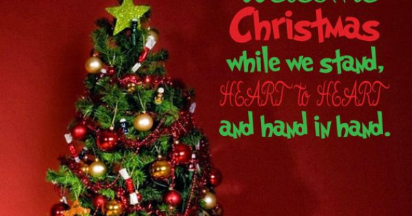 Christmas Quotes And Sayings Glitter Sticker Decal: Welcome Christmas The Grinch Quote Wall Decal By