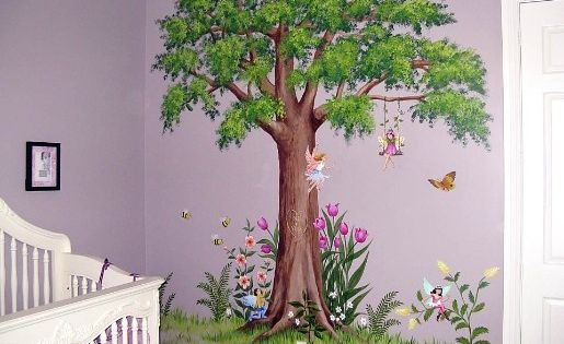 Fairy wall mural gothic woodland and princess wall for Fairy princess mural