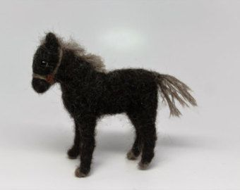 Items Similar To Horse Needle Felted Black Pet Miniature Wool Animal Felting Fiber Arts Black Horse Ready To Ship On E In 2020 Felt Animals Wool Animals Needle Felting