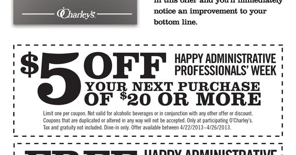 image relating to O Charley's Printable Coupons identify Ocharleys coupon no cost appetizer : Easiest bargains upon resorts within just