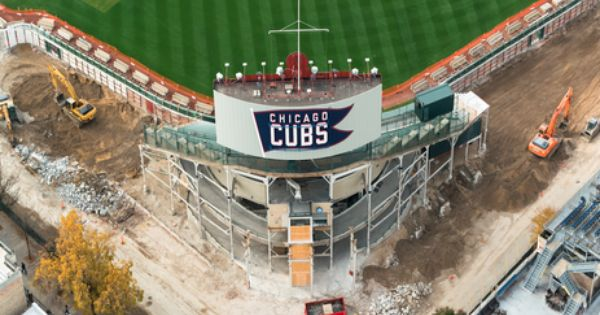Check Out Some Aerial Views Of Wrigley Field Renovation Wrigley Field Wrigley Chicago Cubs Baseball