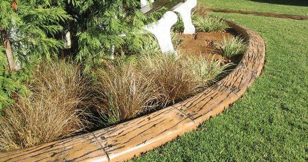 Landscape Edging Rustic : Lawn edging landscape ideas garden rustic wood gardens and