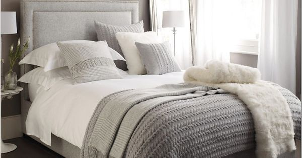 Neutral calming bedroom for the home and organization for Grey and neutral bedroom