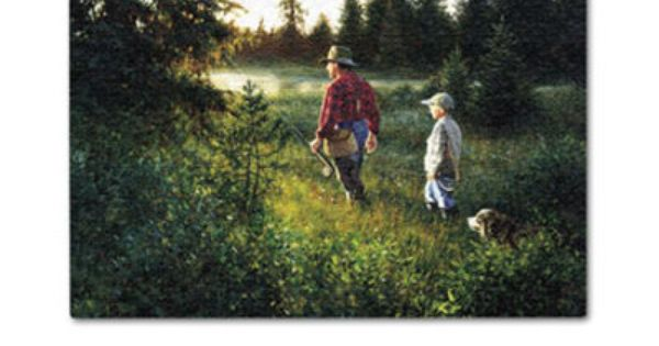 Dad And Son Going Fishing Robert Duncan