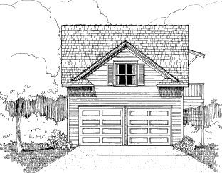 Bungalow Style 2 Car Garage Apartment Plan Number 72784 With 1 Bed 1 Bath Garage Guest House Garage Plan Bungalow House Plans