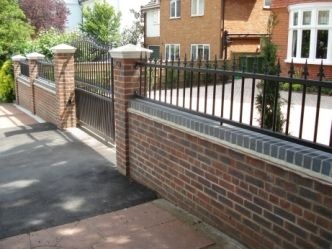 Front Garden Brick Wall Designs Front Garden Brick Wall Designs