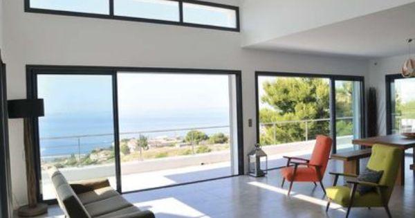 Grande fen tre baie vitr e les mod les adapt s la rt for Fenetre baie window