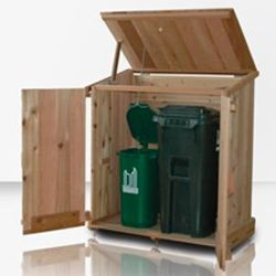 Outdoor Wooden Garbage Can Storage Bin Provide Attractive Waste