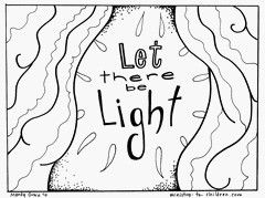 38++ Let there be light coloring page free download