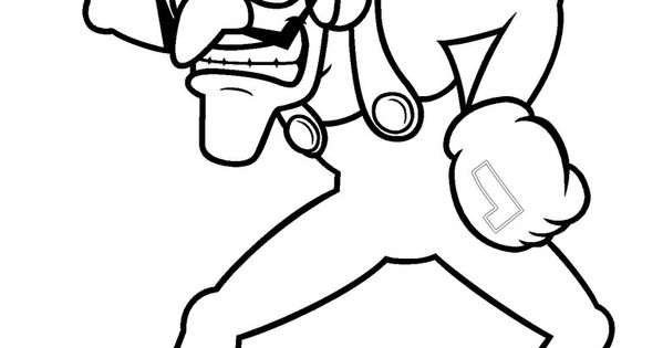 Waluigi Coloring Pages To Print