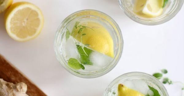 ophelie 39 s kitchen book detox water eau parfum e citron gingembre menthe lemon ginger mint. Black Bedroom Furniture Sets. Home Design Ideas