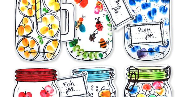 My fingerprint jar education pinterest crafts for Bookmark creator jar