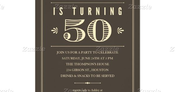 50th Birthday Invitations For Men 50th Birthday