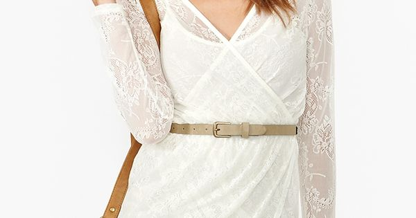 White lace wrap dress