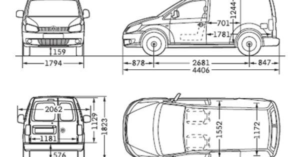 vw caddy panel van dimensions