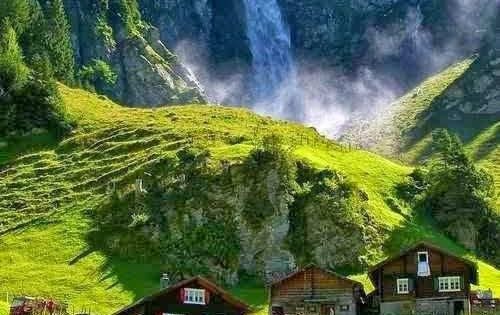 Waterfall, Klausenpass, Switzerland - Switzerland is truly one of the most beautiful