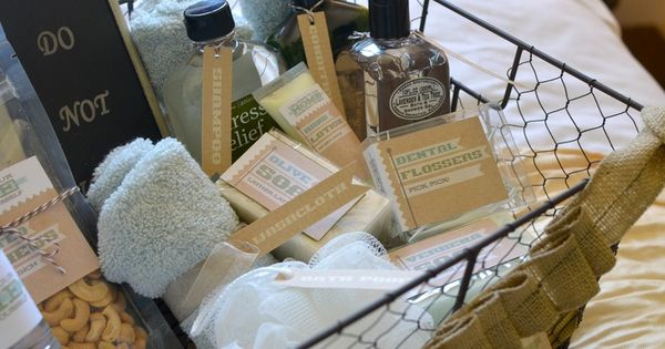 Toiletry Baskets For Weddings Jessica Ferriter 2 Weeks