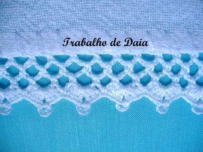 Foto Trabalho Nº 43 Bico Simples De Croche Em Pano De Prato